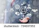 agile development  agility... | Shutterstock . vector #734037352