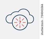status icon pictogram.... | Shutterstock .eps vector #734041066