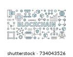 creative technology banner made ... | Shutterstock .eps vector #734043526