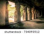 elephanta caves  elephanta... | Shutterstock . vector #734093512