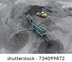 open pit mine  breed sorting ... | Shutterstock . vector #734099872