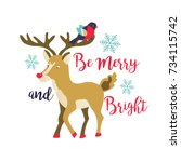 holiday  greeting card with... | Shutterstock .eps vector #734115742