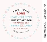 bible verse from old testament  ... | Shutterstock .eps vector #734132872