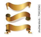 golden ribbons isolated on... | Shutterstock .eps vector #73413361
