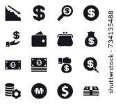 16 vector icon set   crisis ... | Shutterstock .eps vector #734135488