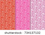 geometric backgrounds. red... | Shutterstock .eps vector #734137132
