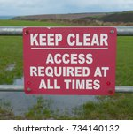 """keep clear access required at... 
