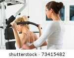 patient at the physiotherapy... | Shutterstock . vector #73415482