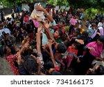 cox's bazar  bangladesh ... | Shutterstock . vector #734166175