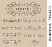 set of calligraphic elements... | Shutterstock .eps vector #73416940