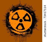 black grunge radioactivity...   Shutterstock .eps vector #73417114