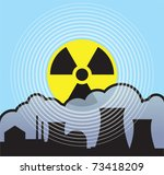 nuclear sunrise  radiation leaks | Shutterstock .eps vector #73418209