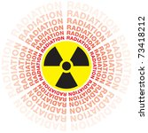 nuclear radiation leak | Shutterstock .eps vector #73418212