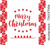 template christmas card  for... | Shutterstock .eps vector #734197006