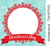 template christmas card  for... | Shutterstock .eps vector #734197012