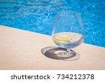 poolside cocktail | Shutterstock . vector #734212378