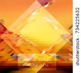abstract creative concept... | Shutterstock .eps vector #734225632