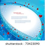 Blue Heart Background With...