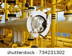 pig receiver oil and gas.... | Shutterstock . vector #734231302