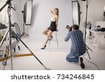 professional photo shooting at... | Shutterstock . vector #734246845
