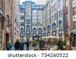 berlin  germany   april 20 ... | Shutterstock . vector #734260522