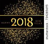 modern 2018 new year background | Shutterstock .eps vector #734285695