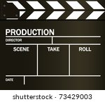 vector movie clapper board | Shutterstock .eps vector #73429003