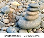 rock layer and stone background | Shutterstock . vector #734298298