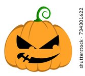 isolated halloween jack o... | Shutterstock .eps vector #734301622
