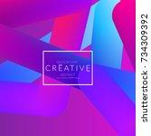 abstract 3d liquid fluid color... | Shutterstock .eps vector #734309392