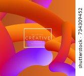 abstract 3d liquid fluid color... | Shutterstock .eps vector #734309452