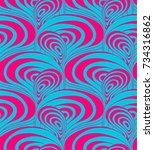 psychedelic colorful seamless... | Shutterstock .eps vector #734316862