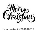 merry christmas xmas hand drawn ...   Shutterstock .eps vector #734318512