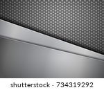 steel plates and carbon fiber... | Shutterstock .eps vector #734319292