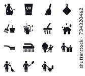 16 vector icon set   cleanser ... | Shutterstock .eps vector #734320462
