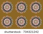 beautiful decoration. raster... | Shutterstock . vector #734321242