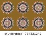 beautiful decoration. raster... | Shutterstock . vector #734321242