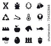 16 Vector Icon Set   Dna ...