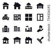 16 vector icon set   home ... | Shutterstock .eps vector #734326192
