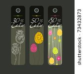 vector set of easter price tags | Shutterstock .eps vector #73432873