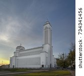 kaunas our lord jesus christ's... | Shutterstock . vector #734341456