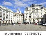 vienna  austria   october 14 ... | Shutterstock . vector #734345752