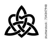 celtic knots trinity with a... | Shutterstock .eps vector #734347948