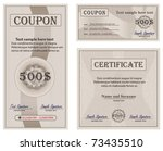 Coupon Certificate Collection...