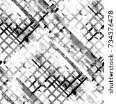 seamless pattern abstract... | Shutterstock . vector #734376478