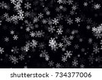 White Snowflakes On Black...