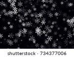 White Snowflakes On Black...