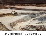 extraction of clay refractory... | Shutterstock . vector #734384572