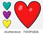 heart set | Shutterstock .eps vector #734391826