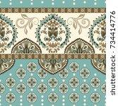 vector seamless border with... | Shutterstock .eps vector #734414776
